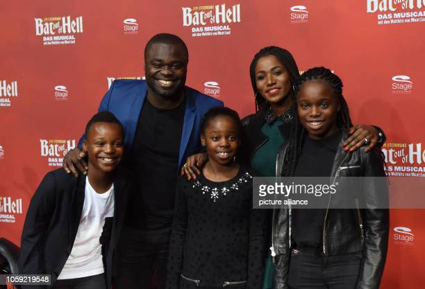 08 November 2018 North RhineWestphalia Oberhausen Footballer Gerald Asamoah and his wife Linda and their children Jaden Jerilynn and Jada come to the...