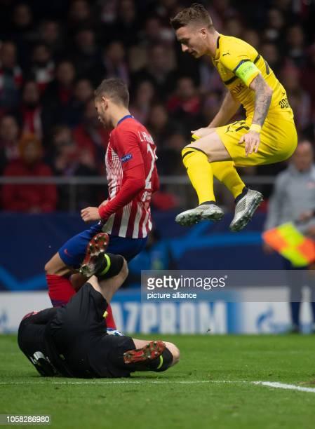 Soccer Champions League Atlético Madrid Borussia Dortmund group stage group A 4th matchday in the stadium Wanda Metropolitano Dortmund's Marco Reus...