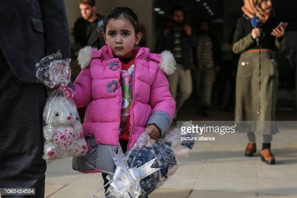 Yasmin a girl with Belgian nationality leaves after a press conference organized by the socalled Syrian Salvation Government an alternative...
