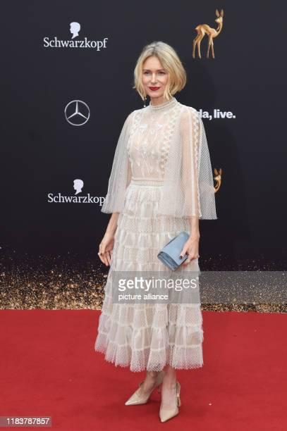 November 2019, Baden-Wuerttemberg, Baden-Baden: Naomi Watts, actress, comes to the 71st Bambi Awards in the Festspielhaus. The Bambi Media Prize has...