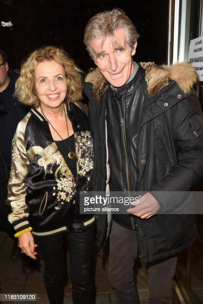 The actress Michaela May and her husband Bernd Schadewald come to the premiere of their film Schmucklos Der Film at the RioFilmpalast The comedy and...