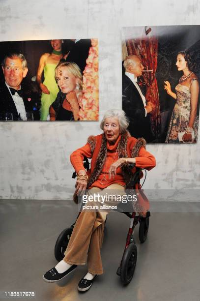 November 2019, Bavaria, Munich: The artist and photographer Marianne Sayn-Wittgenstein-Sayn visits the exhibition of her works at the Kronsbein...
