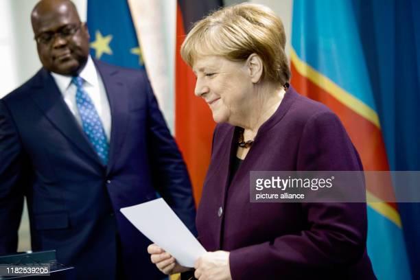 November 2019, Berlin: Federal Chancellor Angela Merkel and Felix Antoine Tshisekedi Tshilombo, President of the Democratic Republic of Congo, will...