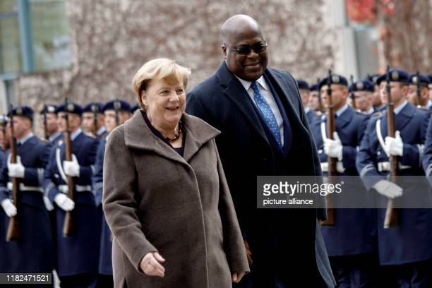 November 2019, Berlin: Federal Chancellor Angela Merkel receives Felix Antoine Tshisekedi Tshilombo, President of the Democratic Republic of Congo,...