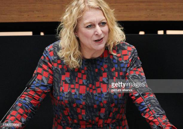 November 2019, Berlin: Nicole Ludwig , Member of Parliament for Charlottenburg-Wilmersdorf, speaks in the session in the Berlin House of...