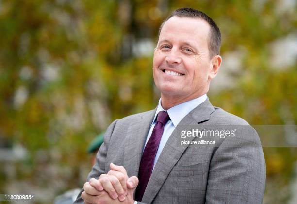 Richard Grenell Ambassador of the United States to Germany stands in front of the Department of Defense and waits for the US Secretary of State and...