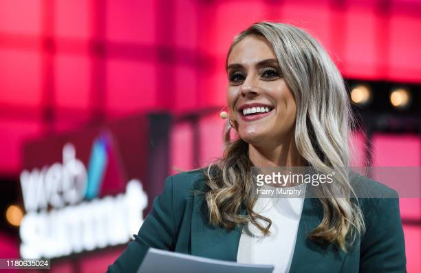 November 2019 Emma Paton Presenter Sky Sports on Centre Stage during the final day of Web Summit 2019 at the Altice Arena in Lisbon Portugal