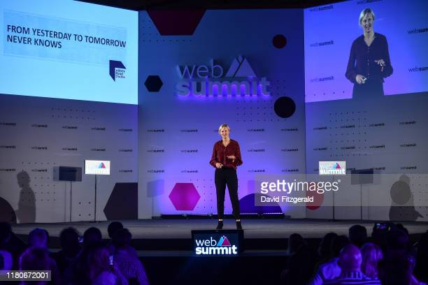November 2019 Isabel Garvey Managing Director Abbey Road Studios on MusicNotes stage during the final day of Web Summit 2019 at the Altice Arena in...