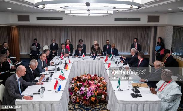 November 2019, Japan, Nagoya: Heiko Maas , Foreign Minister, sits at the 10th meeting of the Initiative for Non-Proliferation and Disarmament on the...