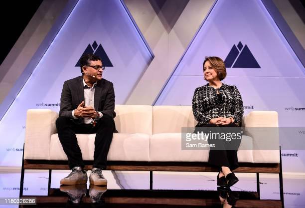 November 2019 Karthic Bala Chief Data Officer Condé Nast left with Lori Fink Chief Legal Officer Xandr on binateio Stage during day two of Web Summit...