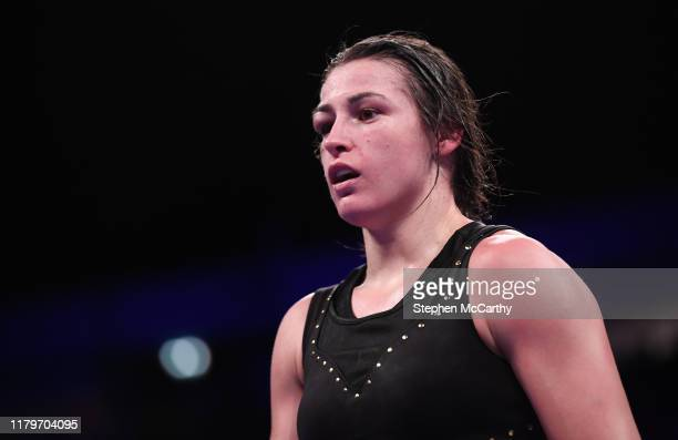 November 2019; Katie Taylor during her WBO Women's Super-Lightweight World title fight against Christina Linardatou at the Manchester Arena in...