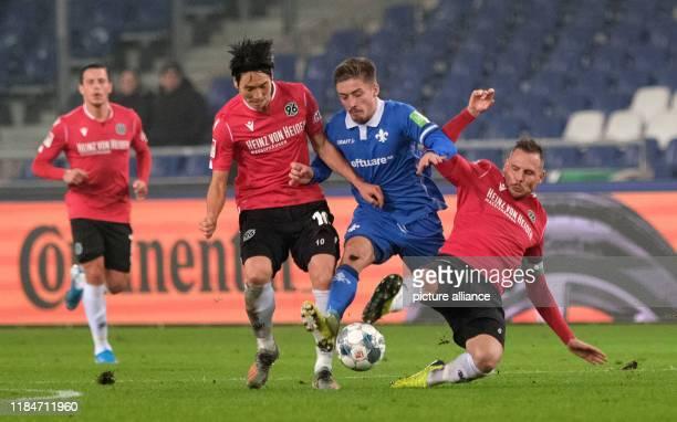 November 2019, Lower Saxony, Hanover: Soccer: 2nd Bundesliga, 14th matchday: Hannover 96 - Darmstadt 98 in the HDI-Arena in Hannover. Hanover's Genki...