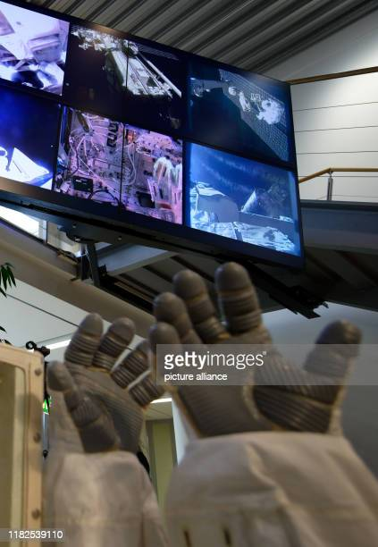 15 November 2019 North RhineWestphalia Cologne ESA astronaut Luca Parmitano and NASA astronaut Andrew Morgan are on display at an event at the...