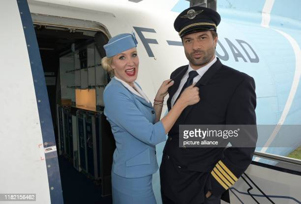 13 November 2019 North RhineWestphalia Cologne The actors Janine Kunze and Kai Schumann are shooting the 100th episode of the ZDF television series...