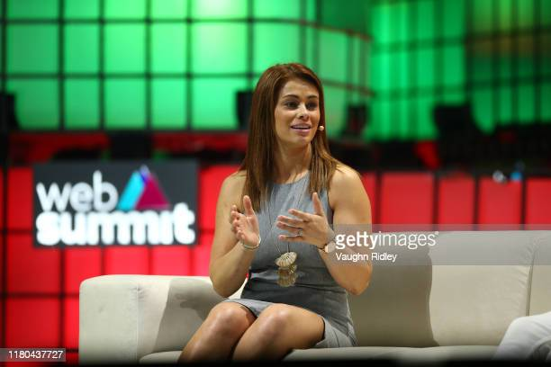 November 2019 Paige VanZant Fighter UFC on Centre Stage during day two of Web Summit 2019 at the Altice Arena in Lisbon Portugal
