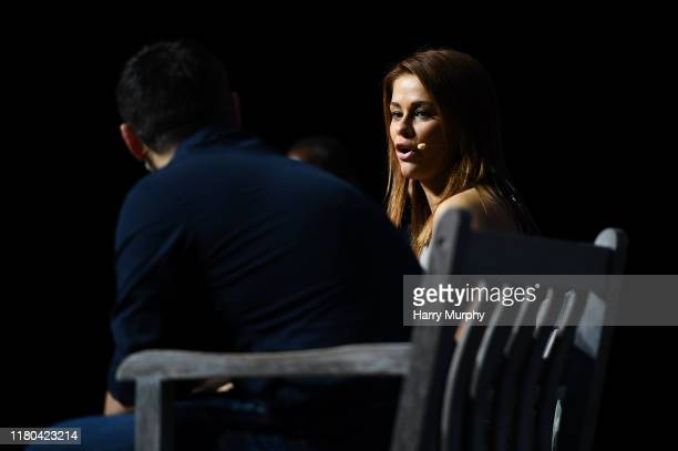 November 2019 Paige VanZant Fighter UFC on PandaConf Stage during day two of Web Summit 2019 at the Altice Arena in Lisbon Portugal