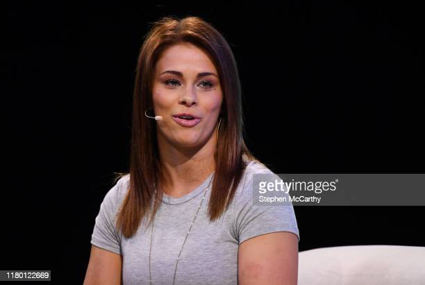 November 2019 Paige VanZant Fighter UFC on SportsTrade Stage during the opening day of Web Summit 2019 at the Altice Arena in Lisbon Portugal