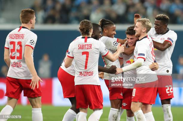 November 2019, Russia, St. Petersburg: Soccer: Champions League, Group stage, Group G, Matchday 4, Zenit St. Petersburg - RB Leipzig in St....