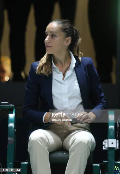 The referee Marijana Veljovic acted in many series matches of Davis Cup in Madrid Spain november 21th 2019 Photo Cézaro De Luca Photo Cezaro de...