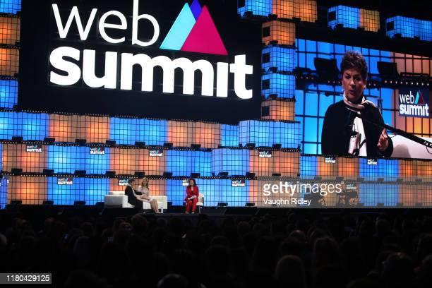 November 2019; Speakers, from left, Christiana Figueres, Founding Partner, Global Optimism, Kate Brandt, Google Sustainability Officer, Google, and...