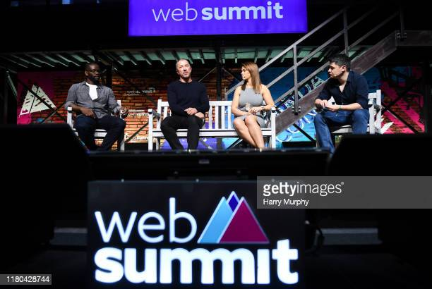 November 2019 Speakers from left Louis Saha Founder CEO AxisStars Simon Oliveira Managing Director Kin Partners Paige VanZant Fighter UFC and Miguel...
