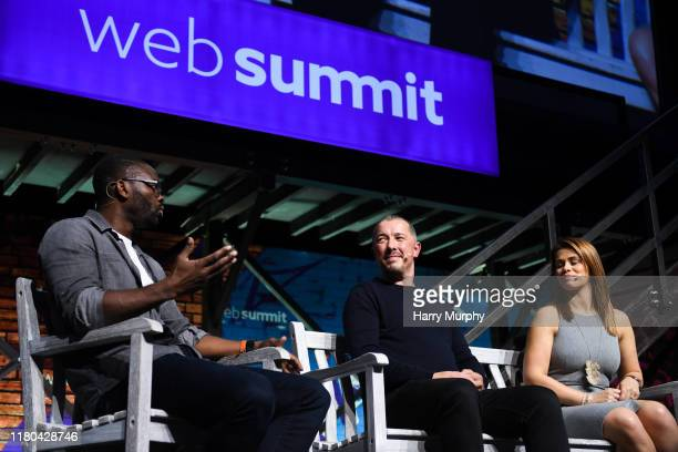 November 2019 Speakers from left Louis Saha Founder CEO AxisStars Simon Oliveira Managing Director Kin Partners and Paige VanZant Fighter UFC The...