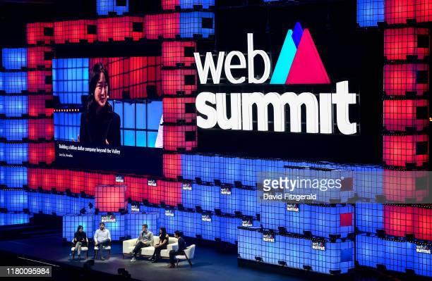 November 2019; Speakers, from left, Lucy Liu, Co-founder, Airwallex, Juan Pablo Ortega, Co-founder, Rappi, Markus Villig, CEO, Bolt, Melanie Perkins,...