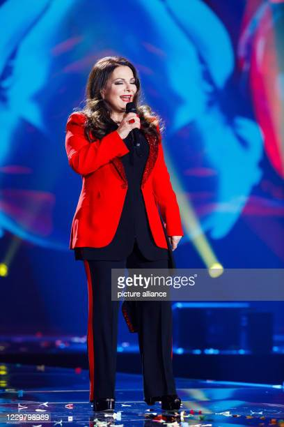 20 November 2020 BadenWuerttemberg Offenburg The musician Marianne Rosenberg performs during a TV recording The Bavarian Broadcasting Corporation...