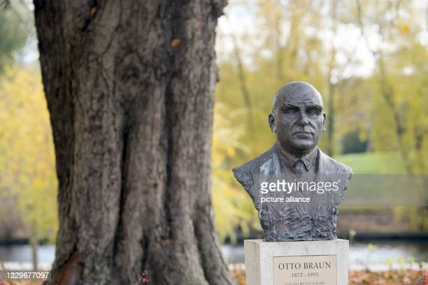 The bust of Otto Braun created by the sculptor Hermann Brachert stands near the banks of the Havel river at the Chestnut tree Braun lived from 1872...