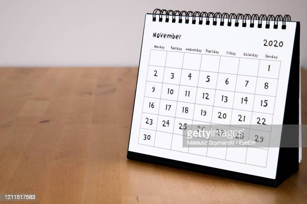 november 2020 calendar - month page - november stock pictures, royalty-free photos & images