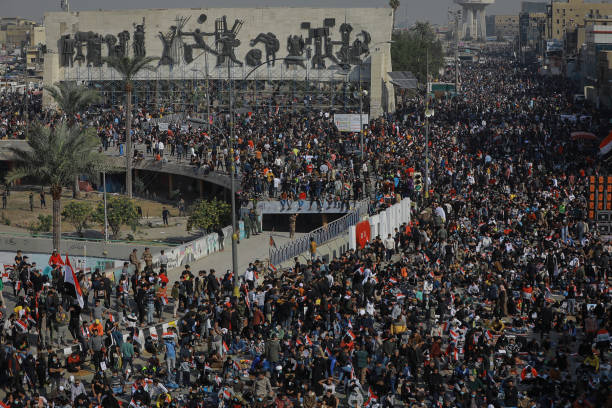 IRQ: Supporters Of Muqtada Al-Sadr Protest In Baghdad
