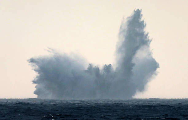 DEU: British Mine Blown Up In Baltic Sea
