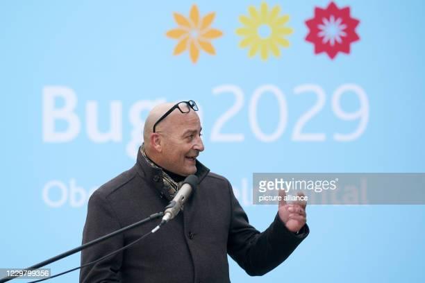 November 2020, Rhineland-Palatinate, St.Goarshausen: Berthold Stückle, the new head of the Bundesgartenschau 2029 Oberes Mittelrheintal GmbH, speaks...