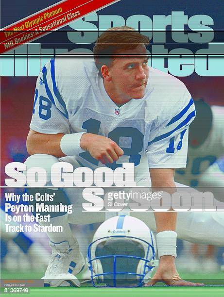 November 22 1999 Sports Illustrated Cover Football Indianapolis Colts QB Peyton Manning stretching before game vs New York Giants East Rutherford NJ
