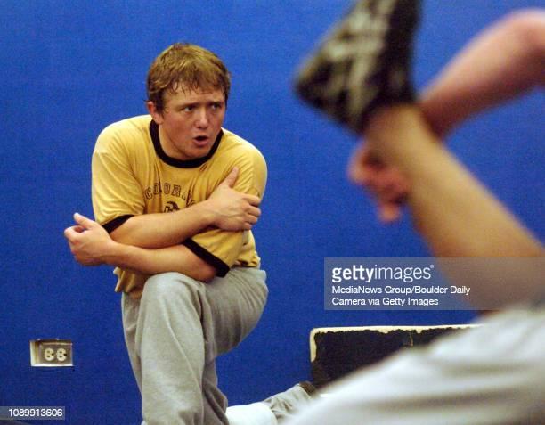 November 22 2005 Broomfield wrestling coach Travis Masse DAILY CAMERA / Mark Leffingwell