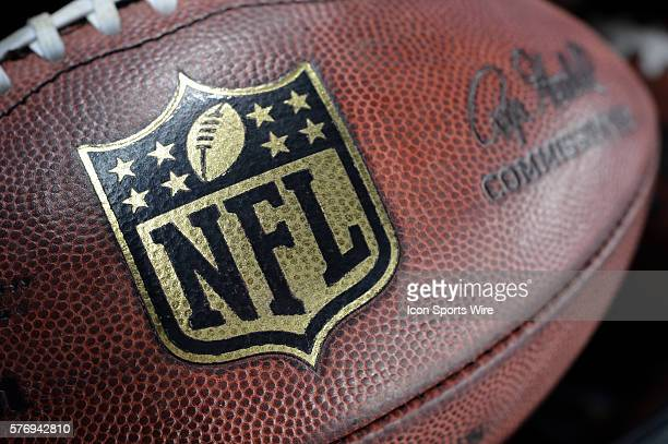 Logo on the football during the Thanksgiving game between the Washington Redskins and the Dallas Cowboys at Cowboys Stadium in Arlington, Texas....