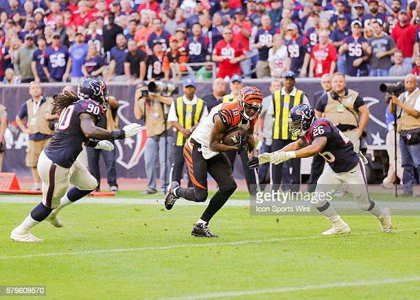Cincinnati Bengals Wide Receiver AJ Green during the NFL game between the Cincinnati Bengals and the Houston Texans at NRG Stadium in Houston TX