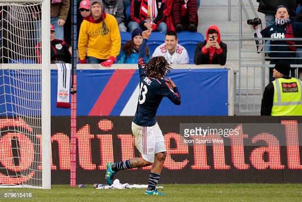 New England Revolution's Jermaine Jones gives thumbs up to the Revolution supporters after scoring the game winning goal. The New England Revolution...