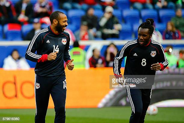 New York Red Bulls' Thierry Henry has a laugh with New York Red Bulls' Peguy Luyindula The New England Revolution defeated the New York Red Bulls 21...