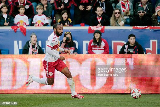 New York Red Bulls' Thierry Henry tracks a ball down The New England Revolution defeated the New York Red Bulls 21 in the first leg of the Eastern...