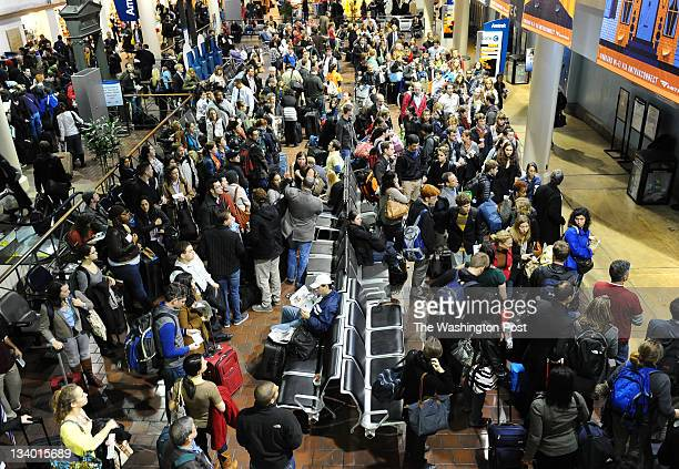 C November 23 Gate D at Union Station was crowded with travelers waiting for the 605 North East Regional on Wednesday afternoon prior to the...