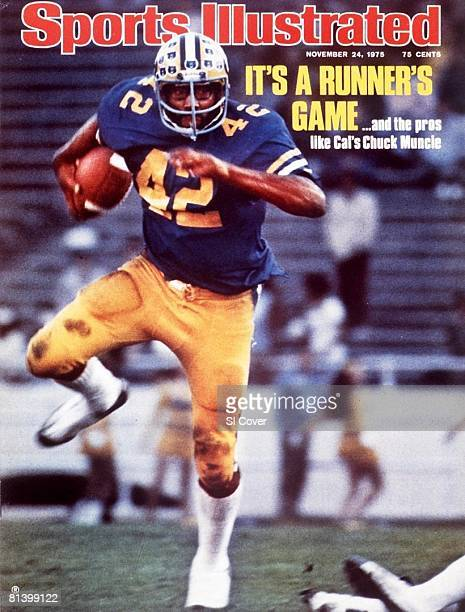November 24, 1975 Sports Illustrated via Getty Images Cover, College Football: Cal Chuck Muncie in action, rushing vs Washington, Berkeley, CA...