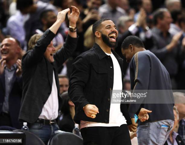 November 25 In second half action, the Raptors Global Ambassador Drake cheers on the team as they pull ahead. The Toronto Raptors beat the...