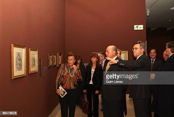 November 26 2007 Museum Thyssen Madrid Spain Juan Abello and his wife Ana Gamazo have inaugurated in the Museum ThyssenBornemisza the exhibition...