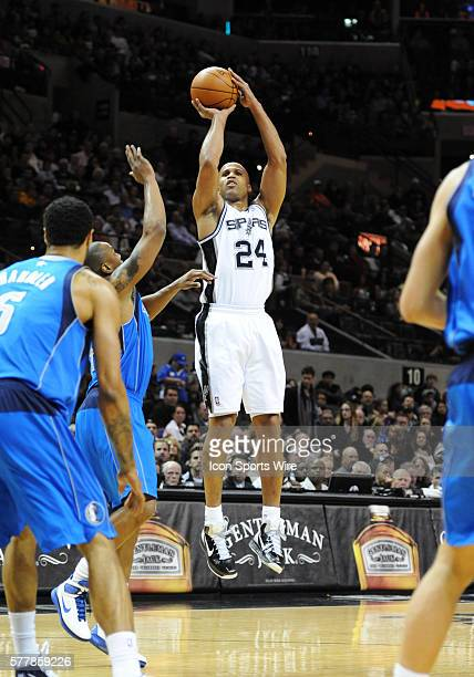 San Antonio Spurs small forward Richard Jefferson takes a long threepoint shot against the Dallas Mavericks at the ATT Center in San Antonio Tx