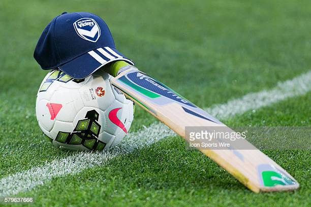 A cricket bat is placed in the middle of the field in respect of Australian cricketer Phil Hughes who tragically died whilst playing cricket during...