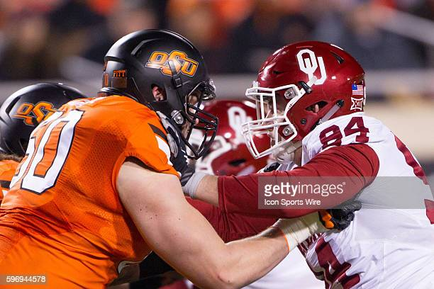 Oklahoma State Cowboys and Oklahoma Sooners face off during the NCAA Division 1 rivalry game Bedlam between the Oklahoma Sooners and the Oklahoma...