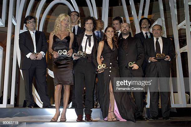 November 29 2005 Palace Hotel Madrid Spain 'Prizes GQ Man of the year' 2005 In the image the fashion model Victoria Silvstedt the singer Coti the...