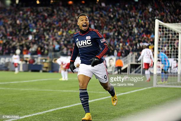 New England Revolution's Charlie Davies reacts to scoring his second goal of the game The New York Red Bulls and the New England Revolution played to...