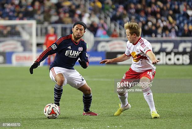 New England Revolution's Lee Nguyen cuts away from New York Red Bulls' Dax McCarty The New York Red Bulls and the New England Revolution played to a...